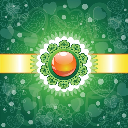 Decorative glossy ball background Vector