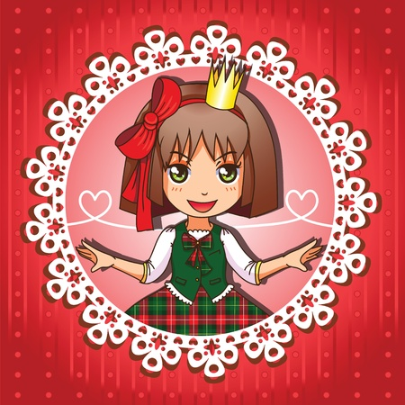 School princess portrait series 4  4 Vector
