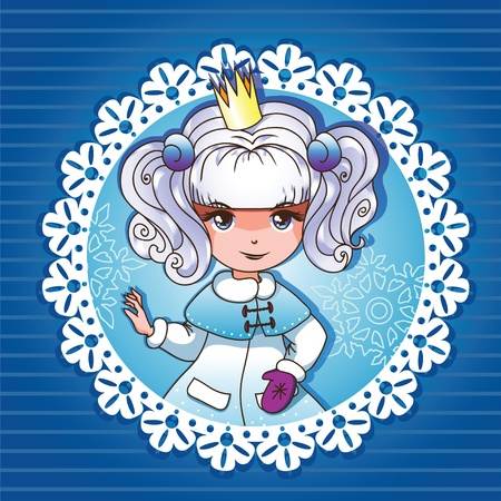 Snow-white princess portrait series 24 Vector