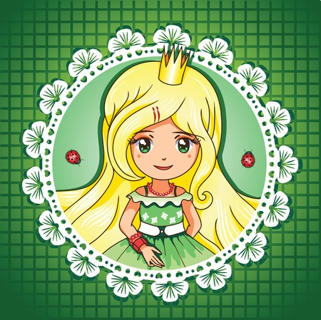 cute girl with long hair: Summer shine princess portrait series 3  4