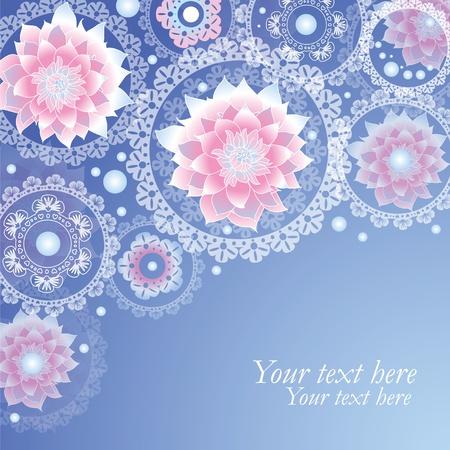 aerate: Airy sfondo con fiori fantastici Vettoriali