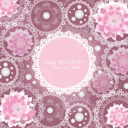 Mystique flowers and snowflakes lace  Illustration