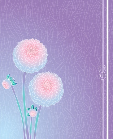 Simple background with dahlia and buds Vector