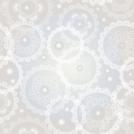 Seamless background with pearles and circles Vector