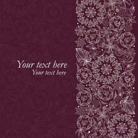 Vintage like floral card Vector