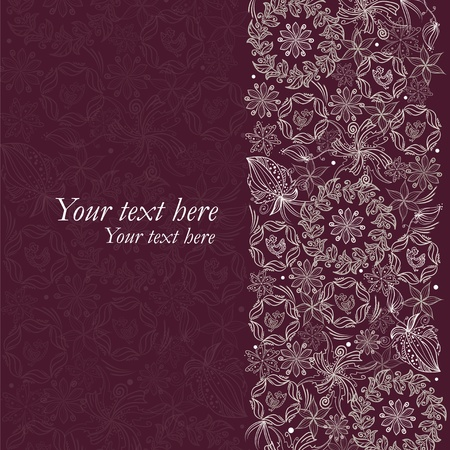 anniversary backgrounds: Vintage like floral card