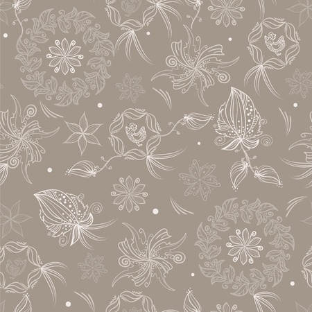 decorative patterns: Elegance pattern with hand drawn birds and flowers Illustration