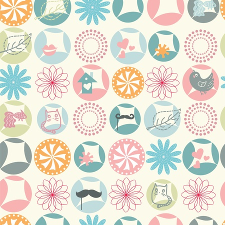 Pastel color spring seamless pattern Vector