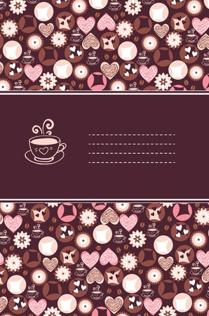 Sweet hearts and chocolate card Vector