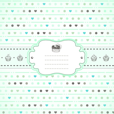 Mints and sweets retro spring card Vector