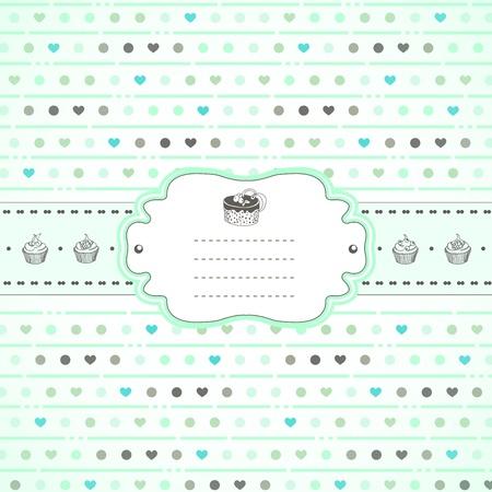 Mints en snoep retro lente-kaart Vector Illustratie