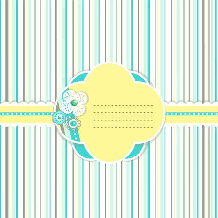 Pastel color stripes spring card Vector