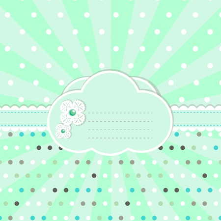 Pastel colored design for  greeting card Vector