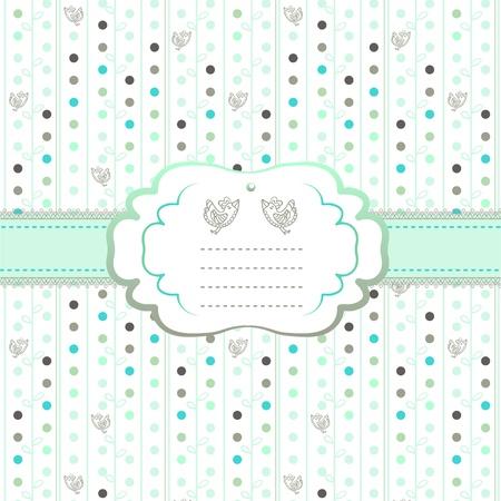 Hearts and eco motif  card Vector