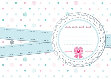Template card with ribbons and place for text Vector