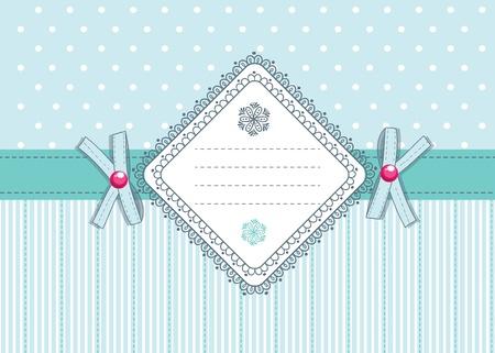 flirty: Carino retro carta con archi flirty e luogo per il testo