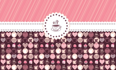 Sweet hearts and chocolate card with place Stock Vector - 13278631