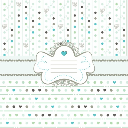 Mint ice cream card with copy space