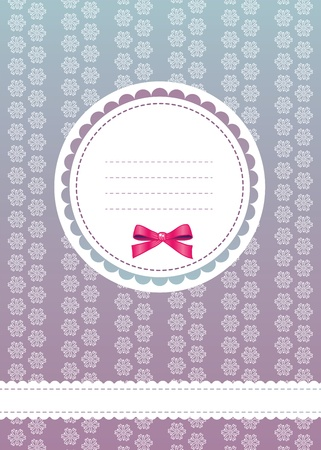 Sweet greeting card with bow, lace and place for text