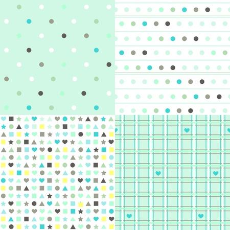 Lines, dots, checks and chaos pattern set