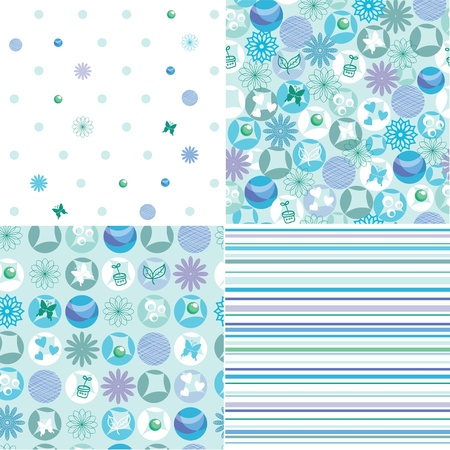 Dots, stripes, lines and chaotic seamless patterns
