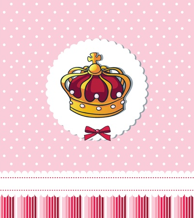 Cover template for royal party Vector