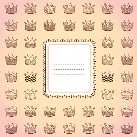 Square composed card with place for your text Vector