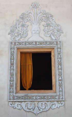 Buddhist temple window
