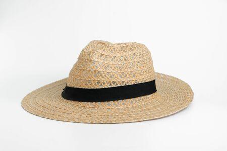 Closeup panama hat on white background. 写真素材