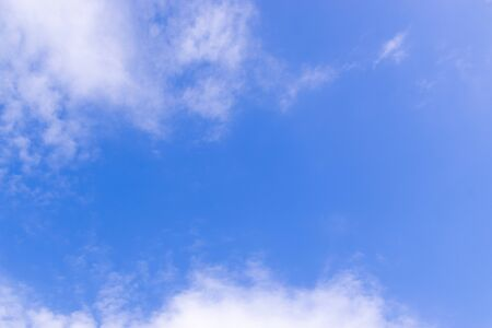 blue sky with clouds atmosphere in the morning so beautiful background. 写真素材
