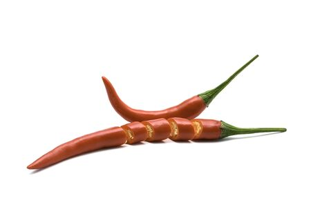 Close up chili pepper isolated on white background.