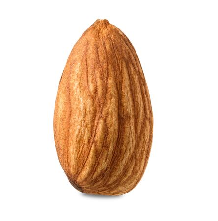 Almond isolated on white background with clipping path.
