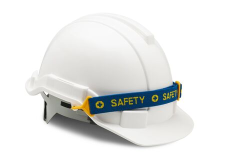 working hat isolated on white background for safety worker with clipping path.
