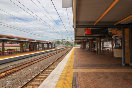 BRISBANE, AUSTRALIA - 22 Dec 2017 - Early morning in Roma Street railway station. It is a heritage-listed major railway station in the CBD of Brisbane, Australia.
