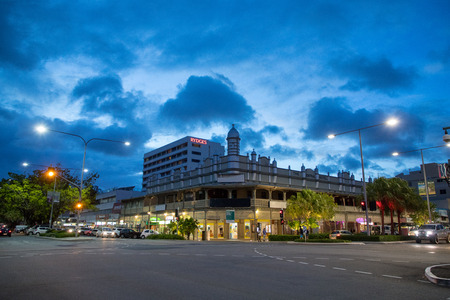 Cairns city, Queensland, Australia - 22 Dec 2017 - The Central Hotel at Lake Street in Cairns(CNS), Australia Editorial
