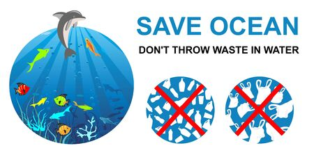 Save Ocean dont throw Waste in water