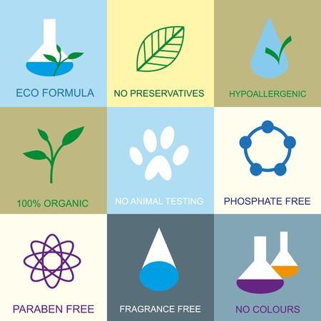 Set of organic flat icons.