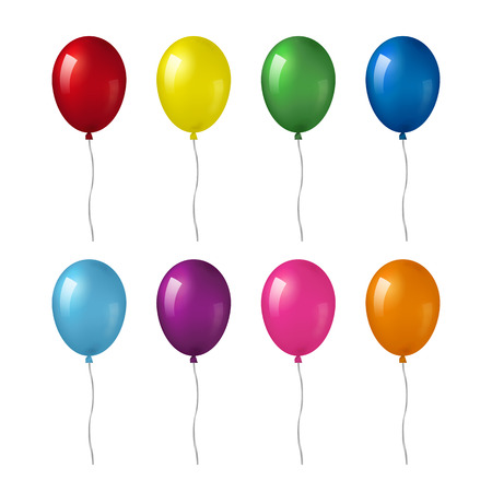 helium: Set of helium balloons. Illustration