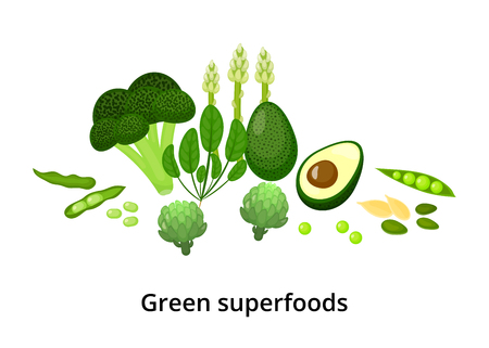 Green superfoods.