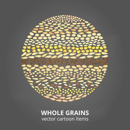 Getreidekörner im Kreis. Standard-Bild - 82184580