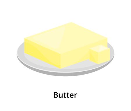 Cartoon creamy butter. Ilustracja