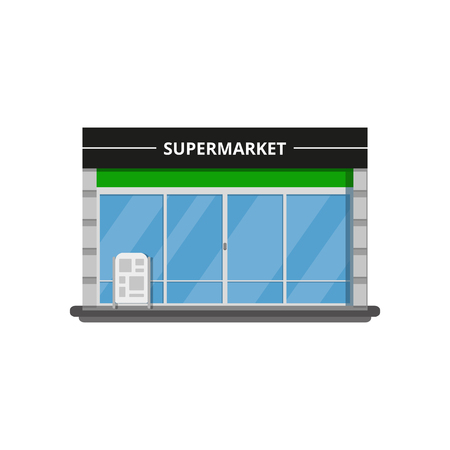 Modern supermarket store. Vector illustration. Ilustrace