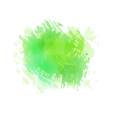 Vector watercolor splash in lime green, menthol colors isolated on white background.