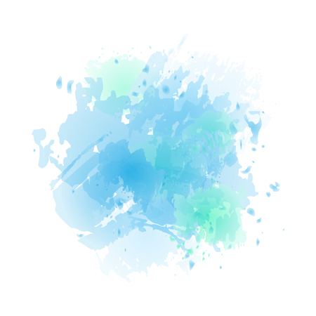 Vector watercolor splash in light blue colors isolated on white background. Reklamní fotografie - 111690451
