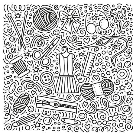 Set of hand made doodles. Ilustrace