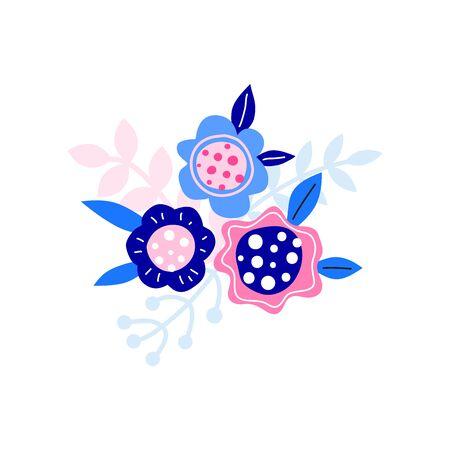 Cute colorful floral bouquet.