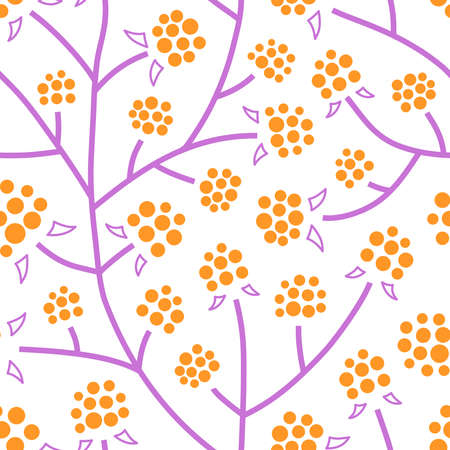Seamless pattern with cloudberry thickets. 向量圖像