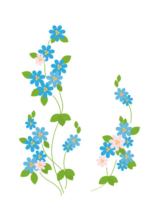 Twigs delicate blue forget-me -
