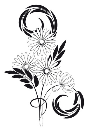 Bouquet of daisies and chrysanthemums. Stock Vector - 6694853