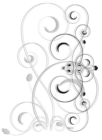 Abstract vignette on a white background Illustration